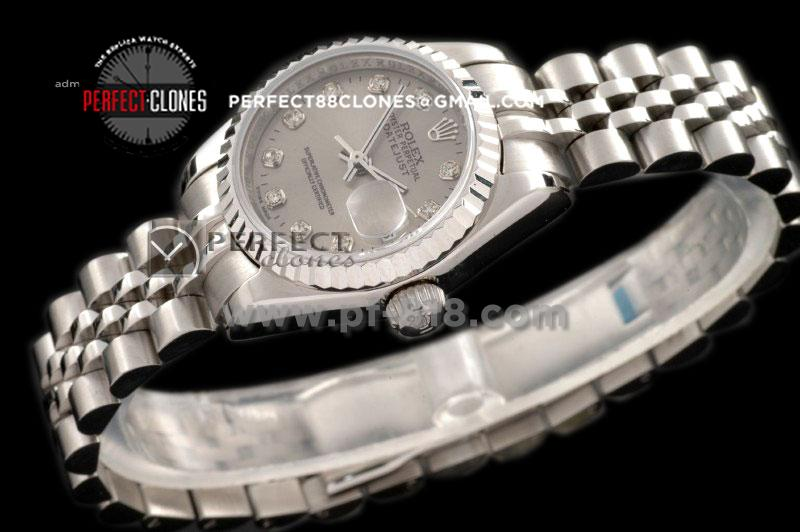 RDJLS10022 SS Jub Grey Diamonds Swiss Eta 2671-2