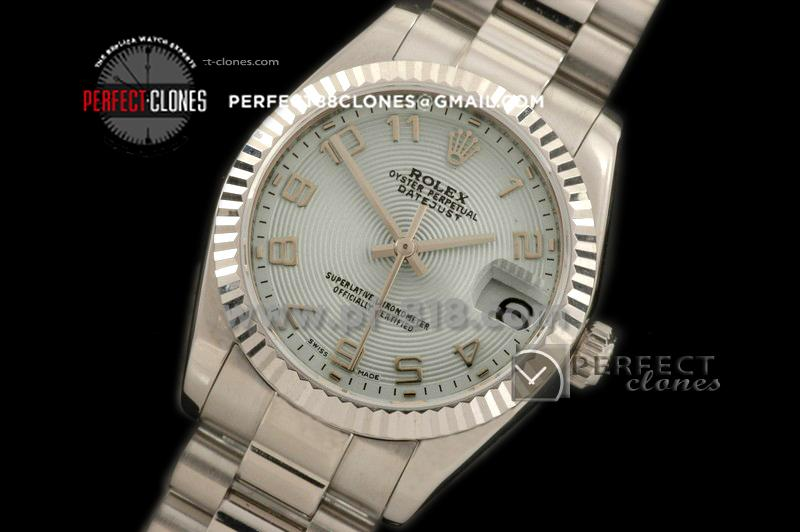 RDJmS10149 SS Pres Sunray Light Blue Numeral Swiss Eta 2836