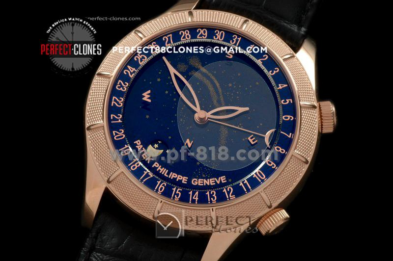 PPSM10013 Skymoon Automatic RG/LE Blue Asian 2813 21J