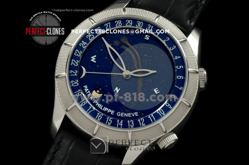 PPSM10003 Skymoon Automatic SS/LE Blue Asian 2813 21J