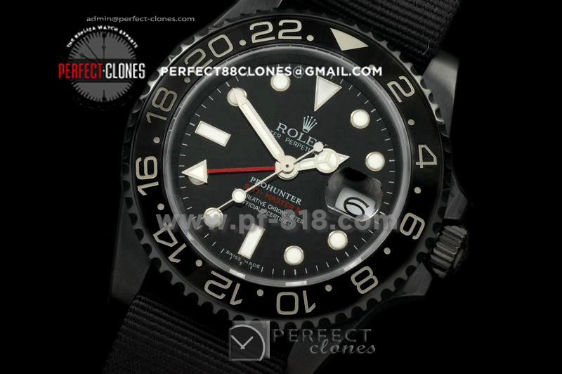 RLGPH10006 Pro Hunter GMT Master MK1 PVD Black Ceramic Bez Swiss