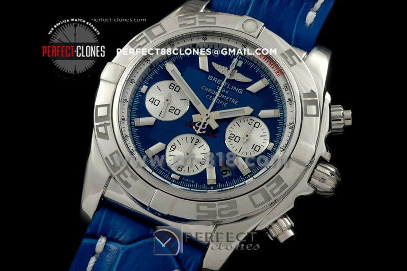 BLB01-10004L Chronomat B01 SS/LE Blue Sticks A-7750 28800bph