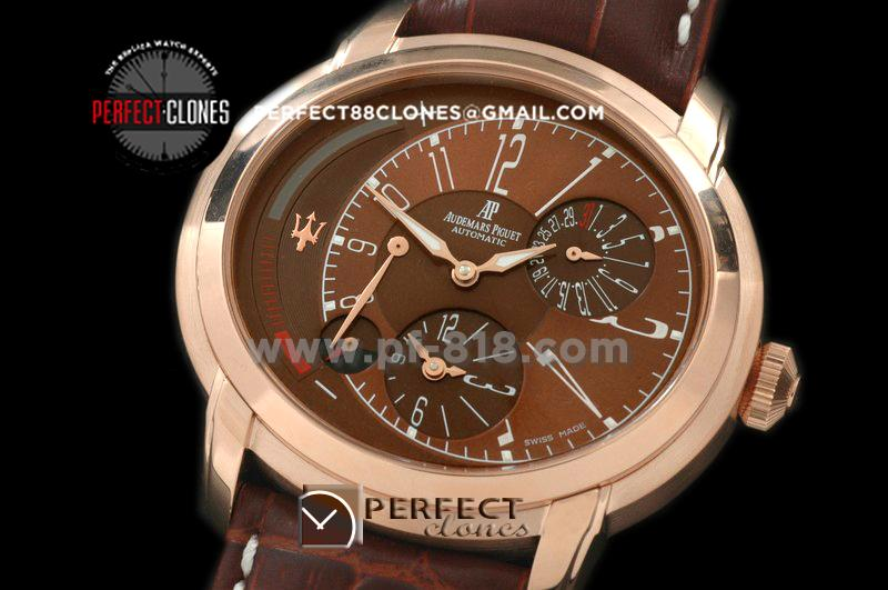 APML10009 Millenary Reserve/Duo Time RG/LE Brown Asian 23 Auto